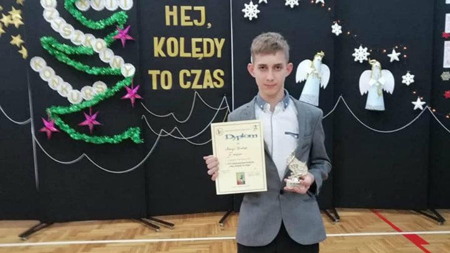 Nasz uczeń laureatem konkursu powiatowego